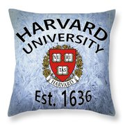 Harvard University Est. 1636 Throw Pillow