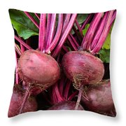 Harvested Organic Beets Throw Pillow