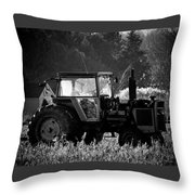 Harvesting The Fields Throw Pillow