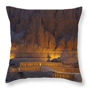 Hatshepsuts Mortuary Temple Rises Throw Pillow
