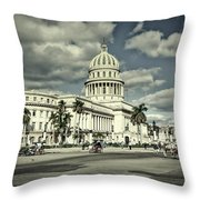 Havana National Capitol Throw Pillow