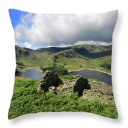 Haweswater Reservoir, Mardale Valley, Lake Dist Throw Pillow