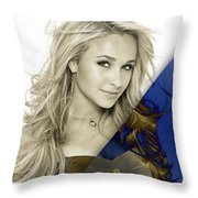 Hayden Panettiere Collection Throw Pillow