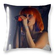 Hayley Williams Throw Pillow