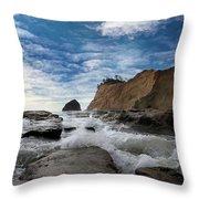 Haystack Rock At Cape Kiwanda Throw Pillow