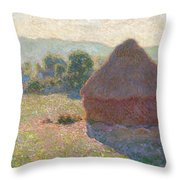 Haystacks, Midday Throw Pillow