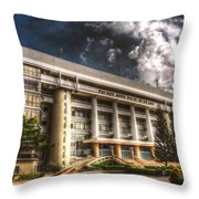 Hdr Building Throw Pillow