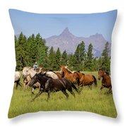 Head Em Up Move Em Out Throw Pillow