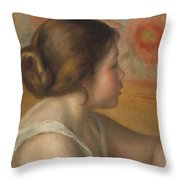 Head Of A Young Girl Throw Pillow