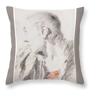 Head Of A Youth Turned To The Left Throw Pillow