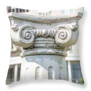 Head Of Column Throw Pillow