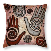 Healing Hands Fresco Throw Pillow