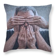 Hear, See, Speak Throw Pillow