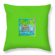 Heart Cottage Throw Pillow