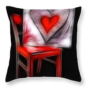 Heart Int Heart Throw Pillow