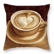 Heart Latte II Throw Pillow