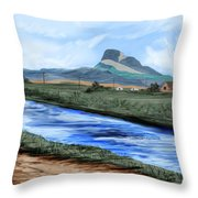 Heart Mountain And The Canal Throw Pillow