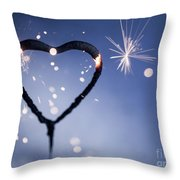 Heart Shape Sparkler Throw Pillow