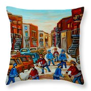 Heat Of The Game Throw Pillow
