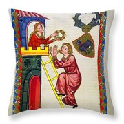 Heidelberg Lieder, C.14th Throw Pillow
