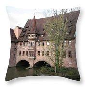 Heilig Geist Spital - Nuremberg Throw Pillow