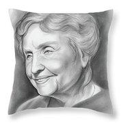 Helen Keller Throw Pillow