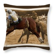 Helluva Rodeo-the Ride 6 Throw Pillow
