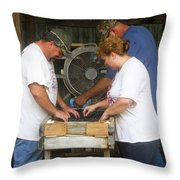 Henderson Blueberry Farm Throw Pillow