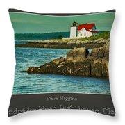 Hendricks Head Lighthouse, Maine Throw Pillow