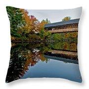 Henniker Bridge Throw Pillow