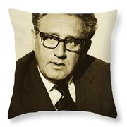 Henry Kissinger 1976 Throw Pillow