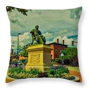 Henry Wadsworth Longfellow Monument - Portland, Maine Throw Pillow