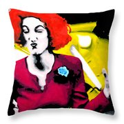 Her Name Is Lil . . Throw Pillow by Luis Ludzska