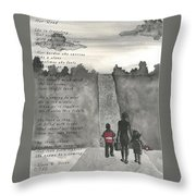 Her Road Throw Pillow