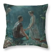 Hermia And Lysander Throw Pillow
