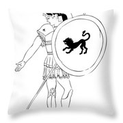 hero - warrior of ancient Greece Throw Pillow