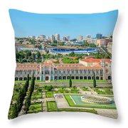 Hieronymites Monastery Aerial Throw Pillow