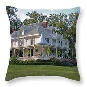 Higdon House Inn Throw Pillow