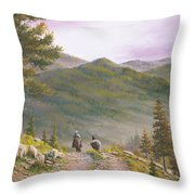 High Country Trails Throw Pillow