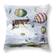 Highway Of The Future Throw Pillow