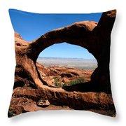 Hiking Through Arches Throw Pillow