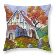 Hillsidebarn Throw Pillow