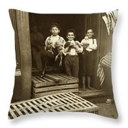 Hine: Child Labor, 1908 Throw Pillow