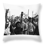 Hispanic Anti-viet Nam War Rally Tucson Arizona 1971 Throw Pillow