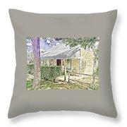 Limestone Cottage Throw Pillow