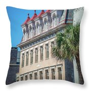 Historic Charleston South Carolina Downtown And Architetural Det Throw Pillow