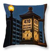 Historic Clock - Beaumont Texas Throw Pillow