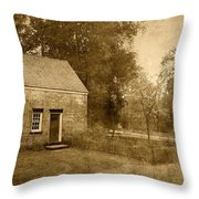 Historic Home - Allaire State Park Throw Pillow