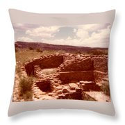 Historic Indian Ruins  Throw Pillow