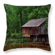 Historic Rikard's Mill - Alabama Throw Pillow